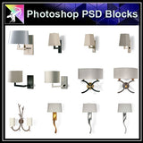 【Photoshop PSD Blocks】Wall_Lights PSD Blocks - Architecture Autocad Blocks,CAD Details,CAD Drawings,3D Models,PSD,Vector,Sketchup Download
