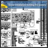 【CAD Details】Sewer installations building fire systems - Architecture Autocad Blocks,CAD Details,CAD Drawings,3D Models,PSD,Vector,Sketchup Download
