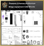★【Auditorium ,Cinema, Theaters CAD Blocks-Stage Equipment CAD Blocks V.2】@Cinema Design,Autocad Blocks,Cinema Details,Cinema Section,Cinema elevation design drawings - Architecture Autocad Blocks,CAD Details,CAD Drawings,3D Models,PSD,Vector,Sketchup Download