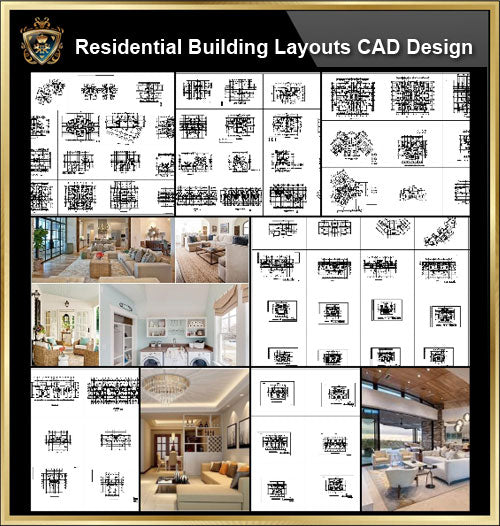 ★【Over 130+ Architecture Layout,Building Plan Design CAD Design,Details Collection】Residential Building Plan@Autocad Blocks,Drawings,CAD Details,Elevation - Architecture Autocad Blocks,CAD Details,CAD Drawings,3D Models,PSD,Vector,Sketchup Download