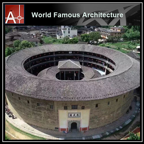 【Famous Architecture Project】China Tulou-Architectural 3D SKP model - Architecture Autocad Blocks,CAD Details,CAD Drawings,3D Models,PSD,Vector,Sketchup Download