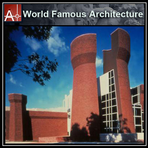 【Famous Architecture Project】Wexner Center for the Arts-Peter Eisenman-Architectural CAD Drawings