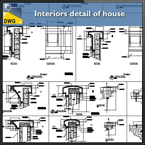 ☆【CAD Details】Autocad Drawings,Blocks,Details - Curtain Wall