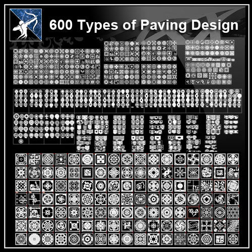 ★【Over 600+ Paving Design CAD Blocks】 - Architecture Autocad Blocks,CAD Details,CAD Drawings,3D Models,PSD,Vector,Sketchup Download