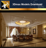 ★Download 3D Max Decoration Models -Dining Room V.3 - Architecture Autocad Blocks,CAD Details,CAD Drawings,3D Models,PSD,Vector,Sketchup Download