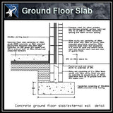 ★Free CAD Details-Ground Floor Slab - Architecture Autocad Blocks,CAD Details,CAD Drawings,3D Models,PSD,Vector,Sketchup Download