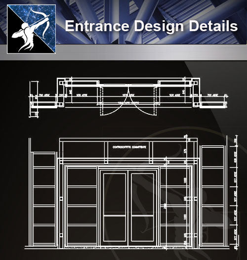 【Door Details】Entrance Design Details - Architecture Autocad Blocks,CAD Details,CAD Drawings,3D Models,PSD,Vector,Sketchup Download
