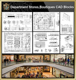 ★【Shopping Centers,Store CAD Design Blocks,Details Bundle】@Shopping centers, department stores, boutiques, clothing stores, women's wear, men's wear, store design-Autocad Blocks,Drawings,CAD Details - Architecture Autocad Blocks,CAD Details,CAD Drawings,3D Models,PSD,Vector,Sketchup Download