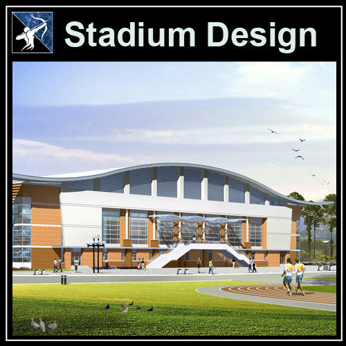 【Architecture CAD Projects】Stadium Design CAD Blocks,Plans,Layout V3