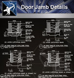 【Wood Constructure Details】Door Jamb Details - Architecture Autocad Blocks,CAD Details,CAD Drawings,3D Models,PSD,Vector,Sketchup Download