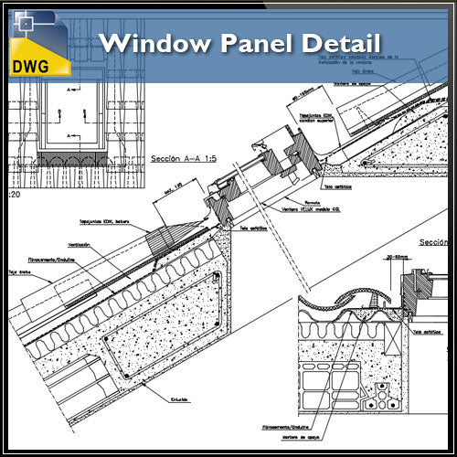 【CAD Details】Window Panel CAD Details