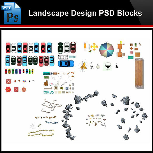★Photoshop PSD Blocks-Landscape Design PSD Blocks-CAR PSD Blocks - Architecture Autocad Blocks,CAD Details,CAD Drawings,3D Models,PSD,Vector,Sketchup Download
