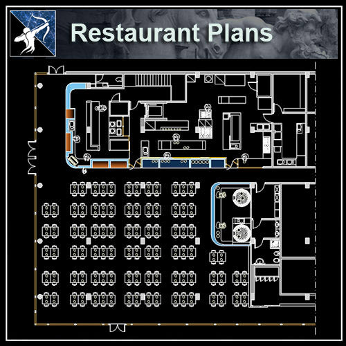 Restaurant Design CAD Blocks,Plans,Layout