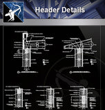 【Roof Details】Header Details - Architecture Autocad Blocks,CAD Details,CAD Drawings,3D Models,PSD,Vector,Sketchup Download