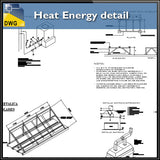 【CAD Details】Heat Energy detail in autocad dwg files