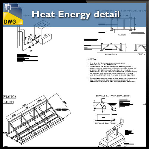 【CAD Details】Heat Energy detail in autocad dwg files - Architecture Autocad Blocks,CAD Details,CAD Drawings,3D Models,PSD,Vector,Sketchup Download