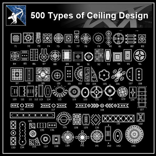 ★【Over 500+ Ceiling Design CAD Blocks】 - Architecture Autocad Blocks,CAD Details,CAD Drawings,3D Models,PSD,Vector,Sketchup Download