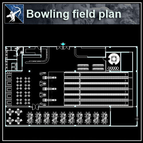 【Architecture CAD Projects】Bowling CAD plans ,CAD Blocks