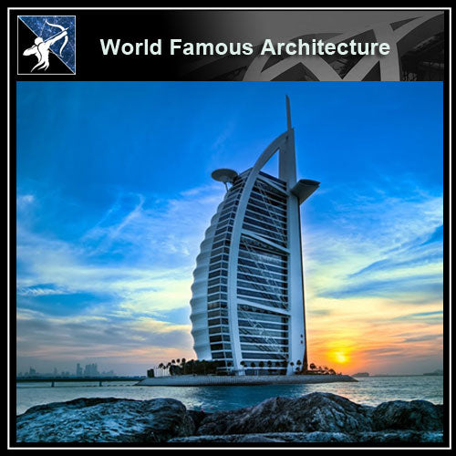 【World Famous Architecture CAD Drawings】Burj al arab hotel dubai CAD 3D Model