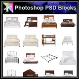 【Photoshop PSD Blocks】Bed Blocks V2 - Architecture Autocad Blocks,CAD Details,CAD Drawings,3D Models,PSD,Vector,Sketchup Download