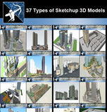 ★Best 37 Types of Commercial,Office Building Sketchup 3D Models Collection(Recommanded!!) - Architecture Autocad Blocks,CAD Details,CAD Drawings,3D Models,PSD,Vector,Sketchup Download