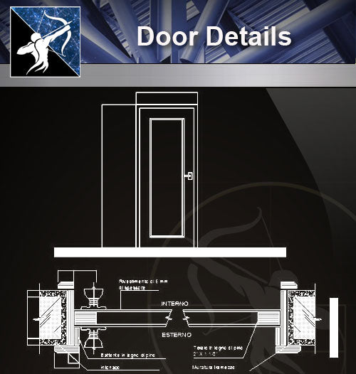 【Free Door Details】 - Architecture Autocad Blocks,CAD Details,CAD Drawings,3D Models,PSD,Vector,Sketchup Download