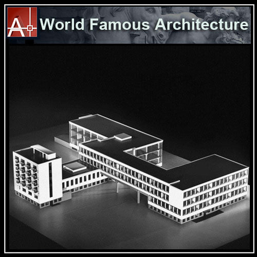 【Famous Architecture Project】The Staatliches Bauhaus (German)-CAD Drawings - Architecture Autocad Blocks,CAD Details,CAD Drawings,3D Models,PSD,Vector,Sketchup Download