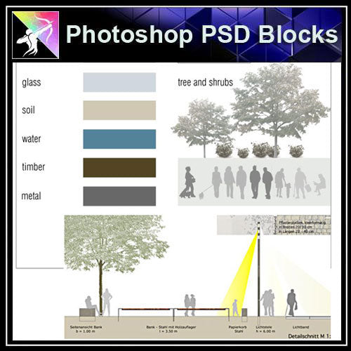 【Photoshop PSD Landscape Blocks】Landscape Plan,Elevation Blocks V.2(Recommanded!!) - Architecture Autocad Blocks,CAD Details,CAD Drawings,3D Models,PSD,Vector,Sketchup Download