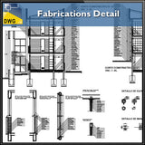 【CAD Details】Fabrications detail autocad dwg files