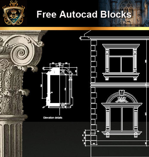 ★Free CAD Blocks-Architecture Decorative Elements V.11 - Architecture Autocad Blocks,CAD Details,CAD Drawings,3D Models,PSD,Vector,Sketchup Download