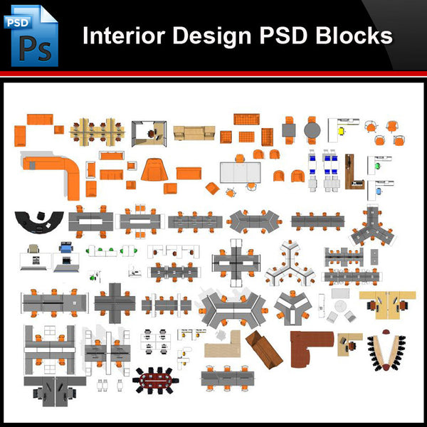 ★Photoshop PSD Blocks-Interior Design PSD Blocks-Office PSD Blocks - Architecture Autocad Blocks,CAD Details,CAD Drawings,3D Models,PSD,Vector,Sketchup Download