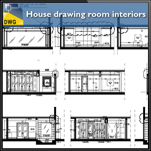 Interior Design Cad Drawings House Drawing Room Interiors Detail And