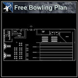【Architecture CAD Projects】Bowling field CAD plans ,CAD Blocks - Architecture Autocad Blocks,CAD Details,CAD Drawings,3D Models,PSD,Vector,Sketchup Download