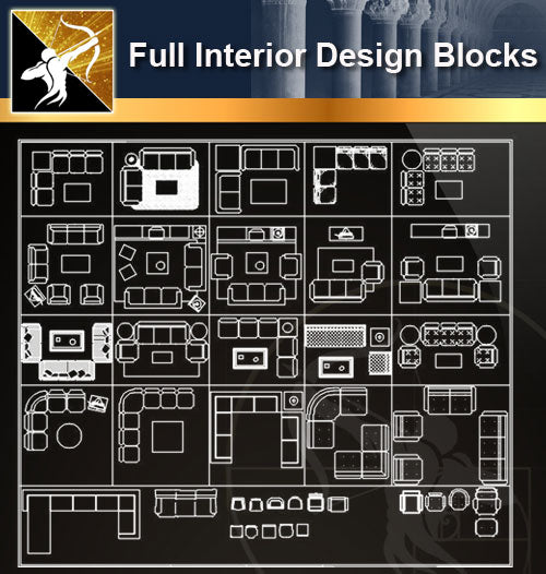 ★Full Interior Design Blocks 4