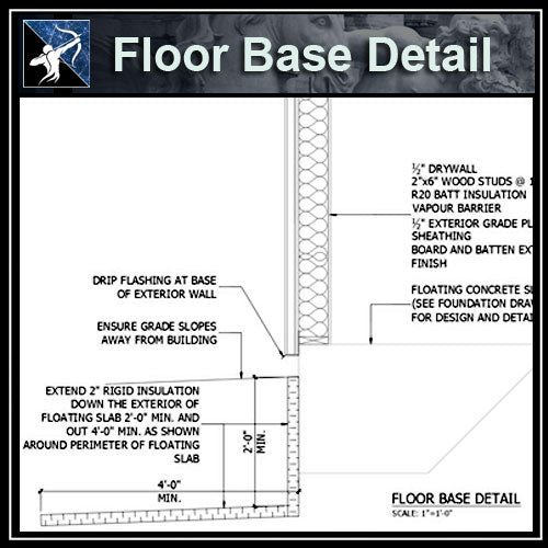 ★Free CAD Details-Floor Base Detail - Architecture Autocad Blocks,CAD Details,CAD Drawings,3D Models,PSD,Vector,Sketchup Download