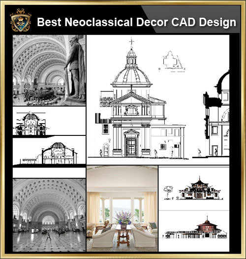 ★【Neoclassical Style Decor CAD Design Elements Collection】Neoclassical interior, Home decor,Traditional home decorating,Decoration@Autocad Blocks,Drawings,CAD Details,Elevation - Architecture Autocad Blocks,CAD Details,CAD Drawings,3D Models,PSD,Vector,Sketchup Download