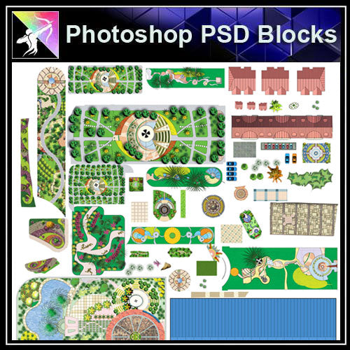 【Photoshop PSD Landscape Blocks】Landscape Paving Blocks 3 - Architecture Autocad Blocks,CAD Details,CAD Drawings,3D Models,PSD,Vector,Sketchup Download