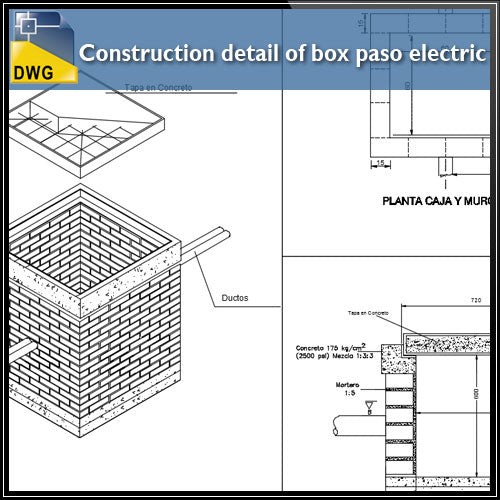【CAD Details】Connection of Walls Joint with Isometric view design CAD Drawing