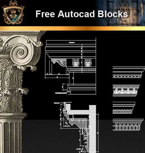 ★Free CAD Blocks-Architecture Decorative Elements V.12 - Architecture Autocad Blocks,CAD Details,CAD Drawings,3D Models,PSD,Vector,Sketchup Download