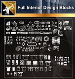 ★Full Interior Design Blocks 8 - Architecture Autocad Blocks,CAD Details,CAD Drawings,3D Models,PSD,Vector,Sketchup Download
