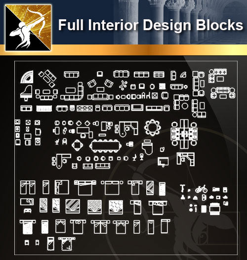 ★Full Interior Design Blocks 8