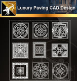 ★Luxury Ground Design-CAD Paving Blocks - Architecture Autocad Blocks,CAD Details,CAD Drawings,3D Models,PSD,Vector,Sketchup Download