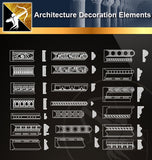 Free CAD Architecture Decoration Elements 5 - Architecture Autocad Blocks,CAD Details,CAD Drawings,3D Models,PSD,Vector,Sketchup Download
