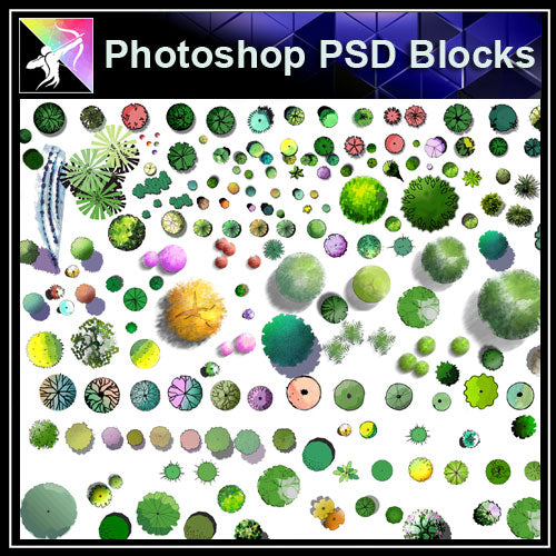 Photoshop PSD Landscape Tree Blocks 3 - Architecture Autocad Blocks,CAD Details,CAD Drawings,3D Models,PSD,Vector,Sketchup Download