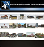 ★Best 15 Types of Commercial Street Design Sketchup 3D Models Collection V.2 - Architecture Autocad Blocks,CAD Details,CAD Drawings,3D Models,PSD,Vector,Sketchup Download