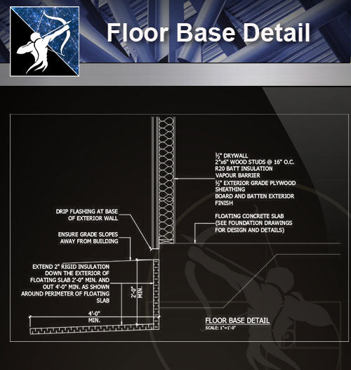【Free Floor Details】Floor Base Detail