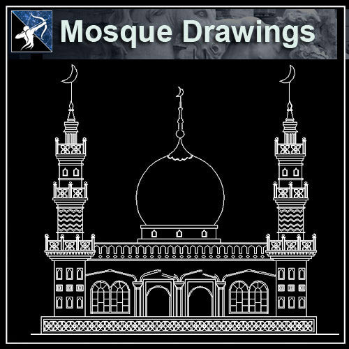 【Architecture CAD Projects】Mosque Architecture Design CAD Blocks,Plans,Layout