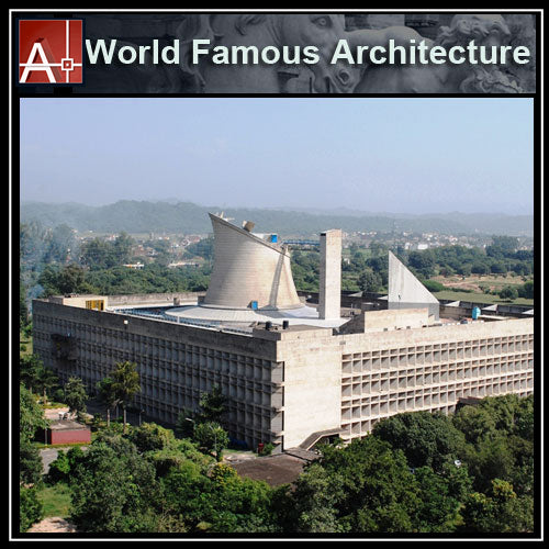 【Famous Architecture Project】Le Corbusier-Palace of Assembly-Architectural CAD Drawings - Architecture Autocad Blocks,CAD Details,CAD Drawings,3D Models,PSD,Vector,Sketchup Download
