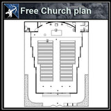 【Architecture CAD Projects】Church CAD plans ,CAD Blocks