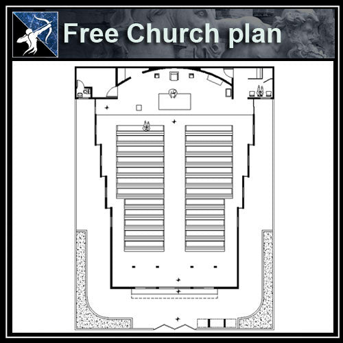 【Architecture CAD Projects】Church CAD plans ,CAD Blocks - Architecture Autocad Blocks,CAD Details,CAD Drawings,3D Models,PSD,Vector,Sketchup Download